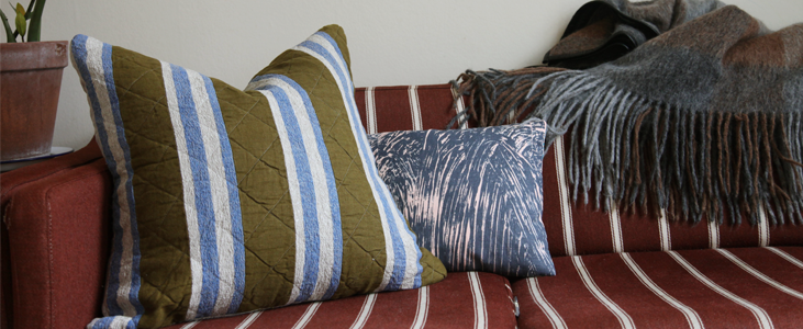 Linen Quilted Cushion Tutorial