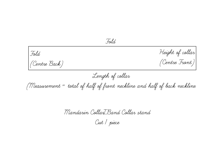 band collar pattern