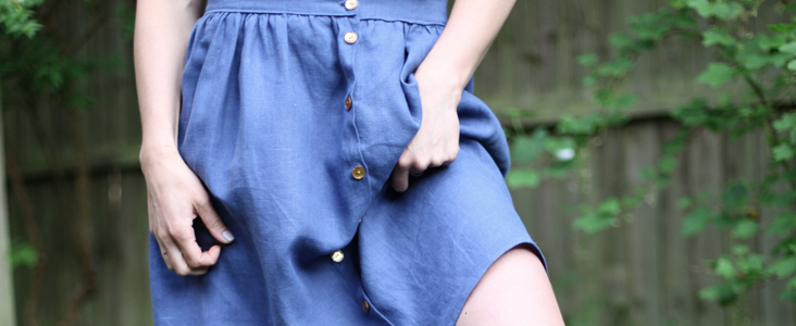 Gathered Button-Front Skirt Tutorial