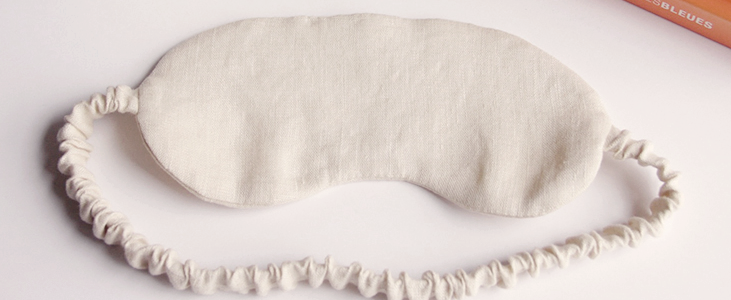 How to make a Linen Sleep Mask Tutorial