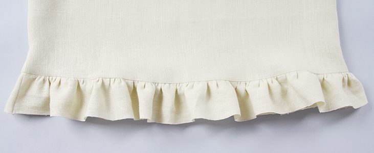 Sewing Glossary: How to Sew and Attach a Ruffle Tutorial