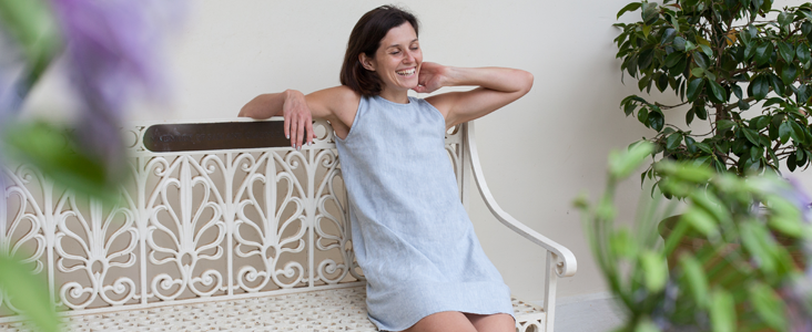 How to make a Simple Linen A-Line Dress Tutorial