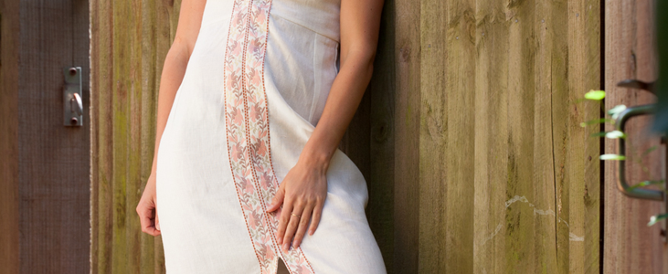 Embellished Linen Maxi Dress Tutorial