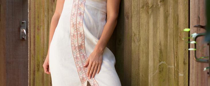 Embellished Linen Maxi Dress Tutorial