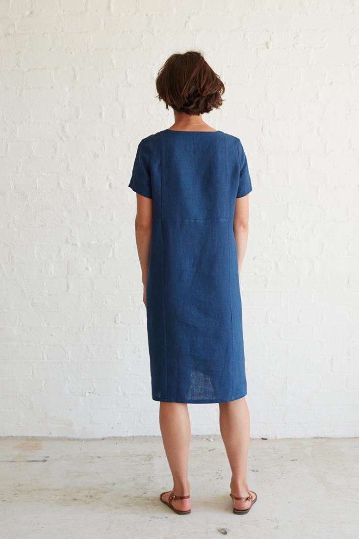 Sashiko Embroidered Linen Dress Tutorial – Fabrics-Store.com – The ...
