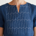 Sashiko Embroidered Linen Dress Tutorial