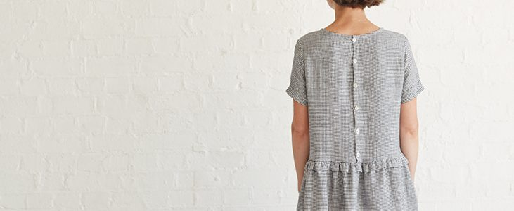 Drop Waist Ruffle Dress Tutorial