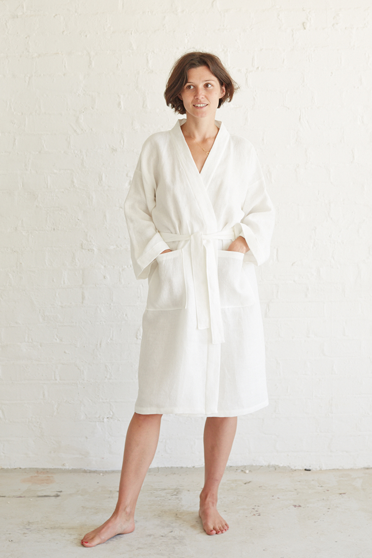 Relaxed Linen Bathrobe Tutorial The Thread Blog