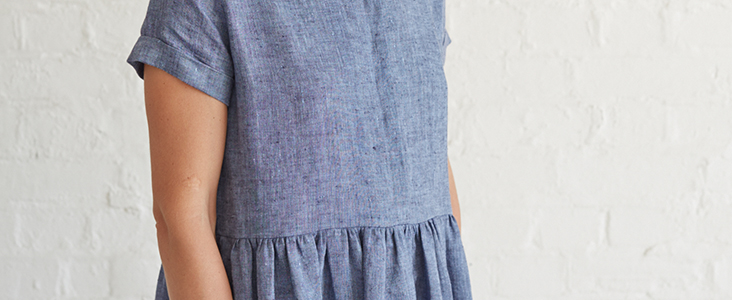 Shirt Dress With Concealed Button Placket Tutorial