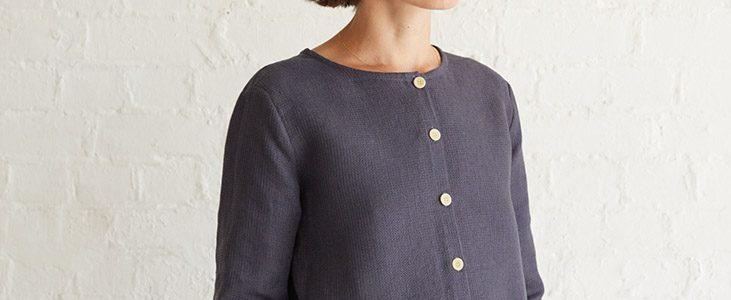 Waffle Weave Textured Linen Top Tutorial