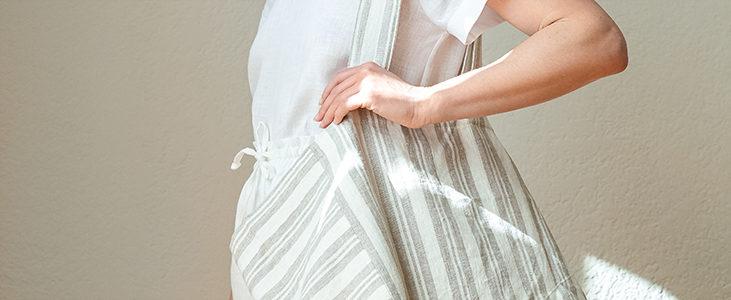 Linen Maxi Tote Bag Tutorial