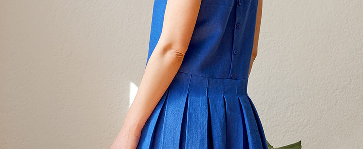 Box Pleated Dress Tutorial