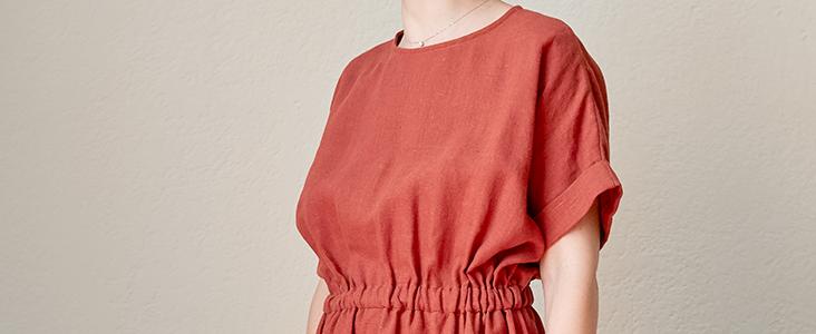 Terracotta Linen Dress Tutorial