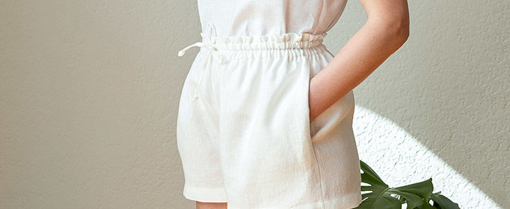 Drawstring Linen Shorts Tutorial