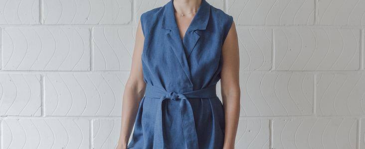 Hayden Sleeveless Blazer Dress Tutorial