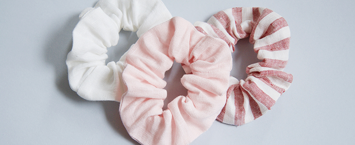 How To Make A Linen Scrunchie Tutorial