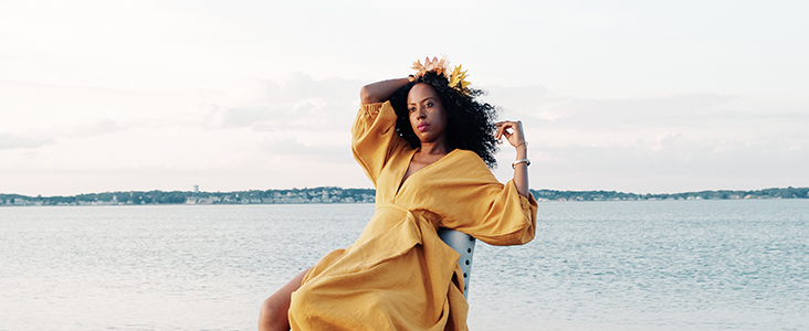FS Curated by you: Warlene Rene makes a Linen Golden Hour Ensemble