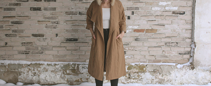 Curated by you: Karlie Theuerkauf makes a linen Cambria Duster by Friday Pattern Company