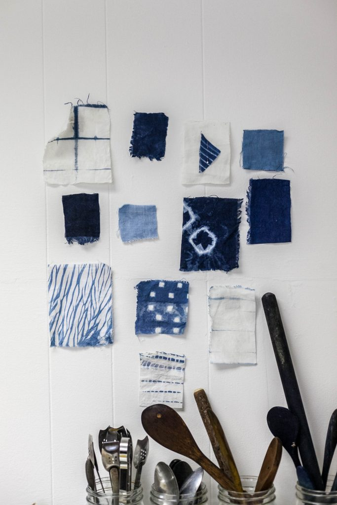 Kathryn Davey plant dyed homeware, accessories and products. Natural dye workshops